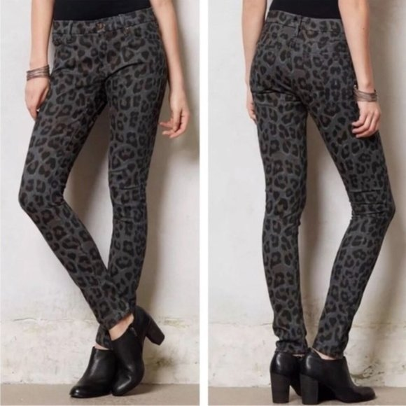 MOTHER The Looker Leopard Print Jeans in Paw Wash